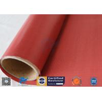 Buy cheap Removable Insulation Jacket 0.45mm Red Color 510g Silicone Coated Fiberglass from wholesalers