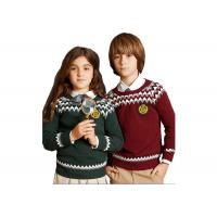 Buy cheap Spring Autumn O - Neck School Uniform Sweaters Raglan Sleeve Breathable from wholesalers