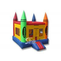 Quality 13x13 rainbow kids crayon small bounce house with removable cover made of lead free material for sale
