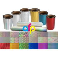 Colorful / Transparent Laser Holographic Film With Patterns 180 - 1880mm Width Manufactures