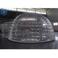 Outdoor Transparent Inflatable Dome Tent For Mobile Hotel / Clear Igloo Tent Manufactures