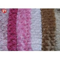 China Teddy Bear brushed Plush Toy Fabric Super Soft PV Knitted Safe Polyester Red Comfortable on sale
