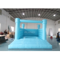 PVC Material Inflatable Bouncy Jumping Castle Blue Slide Commercial Castle Inflatable Kids Bounce House Manufactures