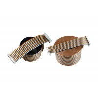 Rainbow PVC 2.54mm 100mm IDC Flat Ribbon Cable Manufactures