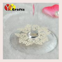 Buy cheap Laser cut wedding place card holders butterfly design name card for wine glass from wholesalers