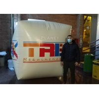 PVC Tarpaulin 1.5M Square Shape Inflatable Water Floating Buoy Cube With Logo triathlon swim buoys Manufactures