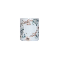 Warm Gift 240g 8x9cm Decal Ceramic Scented Candles Manufactures
