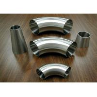 Food Industrial Stainless Steel Sanitary Fittings Weld 90 Degree Elbows Manufactures