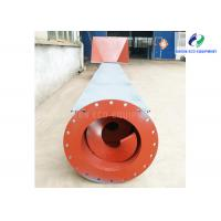 Carbon Steel Feed Screw Conveyor 0~45° Tilting Angle Easy Operation Manufactures