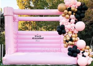 Pink Castle Inflatable Jumping Commercial Bounce House / Bouncy Castle For Kids Manufactures