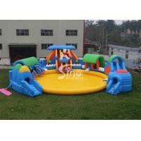 Custom Design Giant Inflatable Water Park Above Ground With Big Pool For Kids N Adults Manufactures