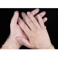 SGS Unisex Clear Exam Powder Free Vinyl PVC Gloves Manufactures