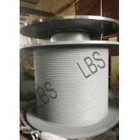 Buy cheap Steel LBS Grooved Drum with Brake Disc / Large Winch Drum for Tower Crane from wholesalers