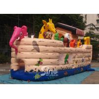Safety Noah's Ark Paradise Inflatable Combo Bounce House For Kids Manufactures