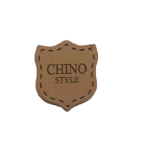 Cowboy Clothing Logo Badges Heat Press Emboss Genuine Leather Patches For Jeans Manufactures
