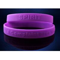 Buy cheap Purple Debossed Silicone Wristband Bracelet For Promotional Gift from wholesalers