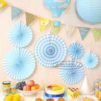 Buy cheap Candy Color Paper Fan Suit Wedding Dessert Table Decorations from wholesalers