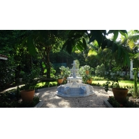 Buy cheap Outdoor park stone white fountain,white marble garden carving water fountain from wholesalers