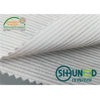 Smooth Canvas Interlining For Tailoring Materials / Men Suits Fusible Interlining Fabric Manufactures