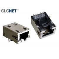 Buy cheap Latch Down Ethernet RJ45 Connector 1G Magnetic RJ45 Modular Jack with lightpipes from wholesalers