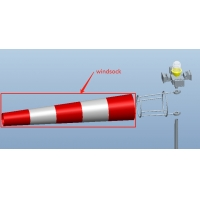 Buy cheap ICAO standard 3meters height corossion proof windcone with flood light for from wholesalers