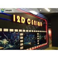 Entertaining 5D Cinema Seats With Motion Effect / Electric System For Amusement Park Manufactures