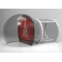 Custom Backdrop Inflatable Christmas Photo Snow Globes With Tunnel Manufactures