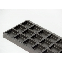 18 Cavity Wine Red Non Stick Square Cupcake Pan Manufactures