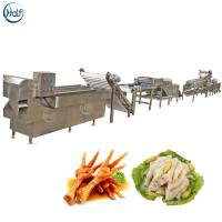 Stable Chicken Feet Processing Line , Chicken Feet Cutting Machine Easy Operation Manufactures