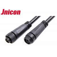 300V 10A Waterproof Cable Connector Male Female Over Molding With Screw Locking