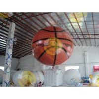 Fire Proof Sporting Inflatable Basketball Giant EN71 With Helium Manufactures