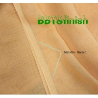 Metallic Silver Golden selvedge 100% spun polyester high twisted full voile Manufactures