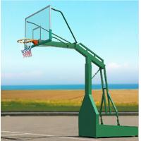 Multi Colored Steel Basketball Hoop Basketball Post Outdoor Basketball Stand Manufactures