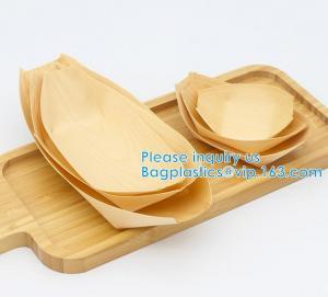 "Finger Food - Bowls, ""Boat"" Biodegradable Wood Promotion - Party Wedding Supplies, 130mm Disposable Sushi/Salad/Dessert Manufactures"