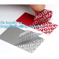 VOID Material Warranty Void Non Removable Labels,Tamper Evident Honeycomb Holographic Warranty OPEN Void Security Label, Manufactures