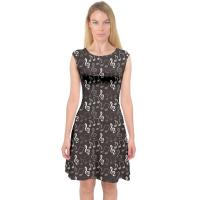Sleeveless Womens Casual Summer Dresses A Line Midi Dress Music Notes Printing Manufactures