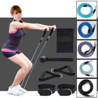 Resistance Bands 11pcs/Set for Arms Waist Legs Strength Exercise, Elastic Pull Rope Workout Fitness Set Tension Rope Manufactures