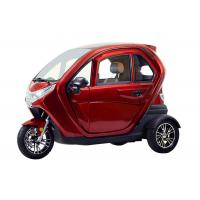 Stable Covered Electric Tricycle 1500W Motor Adjustable Seat 45 Km Per Hour Manufactures