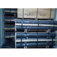 High Strength HP Graphite Rod Electrodes With Nipples Good Thermal Conductivity Manufactures