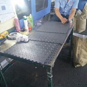 Durable Coin PVC tiles Plastic floor industrial heavy duty floor interlocking pvc garage floor tiles Manufactures