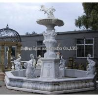 Large white marble fountain Manufactures