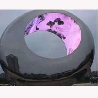 Outdoor Large metal round stainless steel sculpture project,Stainless steel sculpture supplier Manufactures