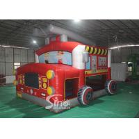 The Blow Up Fire Truck Inflatable Bouncy Castle For Kids And Adults Party Time Manufactures