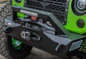 Custom Jeep Wrangler Bumpers , Jeep Wrangler Aftermarket Bumpers With 10'' Light Bar Manufactures