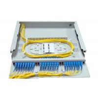 1.4U SC LC Rack Fiber Patch Panel 24 48 Port Top Transparent Cover For Easy Observation Manufactures