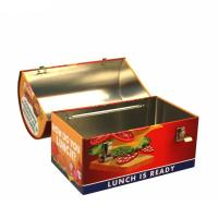 Wholesale domed metal lunch box with handle Manufactures