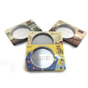 Custom printed window tea tin box Manufactures