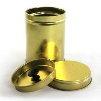 Round Tea Tin Container with Double Cover Manufactures