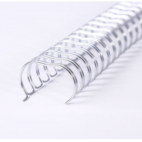 Silver Book Binding Spiral, Spiral Binding Wire O Spool For Document Bind Manufactures