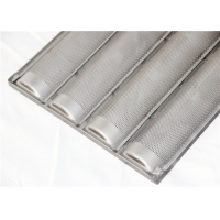 550x400x37mm 1.0mm PTFE Perforated Baguette Pan Manufactures